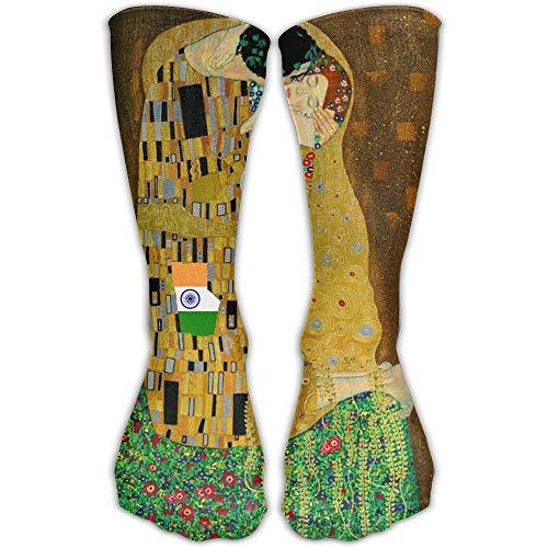 HNJZ-GS Calzini Unisex Classici Gustav Klimt The Kiss Calze da Ginnastica Calzino Lungo 30 cm Taglia Unica