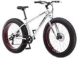 Mongoose Men's Malus Cruiser Bicycle, 18'/Medium, Silver