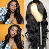 QTHAIR 12A 360 Lace Frontal Wigs 24' Pre Plucked with Baby Hair Brazilian Body Wave Human Hair Wigs Natural Hairline for Black Women Natural Balck Color Unprocessed Virgin Brazilian Hair Wigs