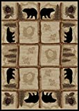 Rug Empire Rustic Lodge Area Rug, Bear Cabin, 4X6