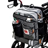 Scooter - Wheelchair Backpack Bag with Cup Holder, Insulated Compartment for Lunch Box and Medicine Travel Case by P&F - for Transport Mobility Electric Scooters, Lightweight Motorized Wheelchair