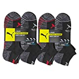 Puma Ultimate Training Low-Cut Socks for Men 12 Pairs with CoolCell Ventilation Fitness Cushioned Socks with Arch Support - 10-13 - Grey/Red2