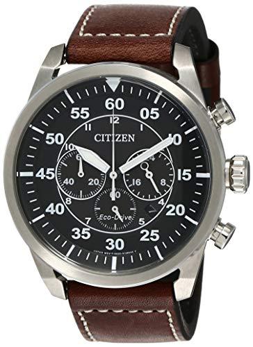 Citizen Herren Chronograph Quarz Uhr mit Leder Armband CA4210-16E