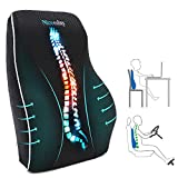 Lumbar Support Pillow for Office Chair Car Lumbar Pillow Lower Back Pain Relief Memory Foam Back Cushion with 3D Mesh Cover Gaming Chair Back Pillow Ergonomic Orthopedic Back Rest for Wheelchair Desk