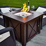 XtremepowerUS New LPG Fire Pit Table Outdoor Gas Fireplace Propane Heater Patio Backyard Deck