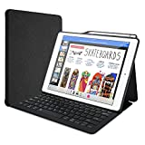 ProCase Keyboard Case for iPad Pro 12.9' 2017/2015 with Built-in Apple Pencil Holder, Slim Lightweight Type Cover Folio Stand Smart Cover with Wireless Keyboard for Apple iPad Pro 12.9 inch –Black