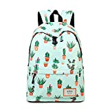 Joymoze Fashion Leisure Backpack for Girls Teenage School Backpack Women Print Backpack Purse Cactus