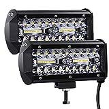 Kraumi Phare de Travail LED 12V 300W 7'' Projecteur LED Voiture 12v Etanche...