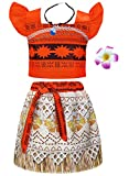 AmzBarley Costume for Girls Dress up Toddler Baby Cosplay Outfit Little Kids Skirt Sets (Orange (with Accessories), 3T (2-3Years))