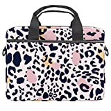 Bolso bandolera para portátil de 14,5 pulgadas, diseño de leopardo, para mujeres y hombres