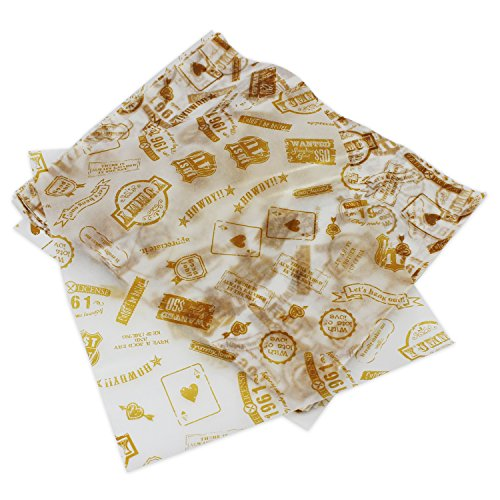Psmgoods® 100pz carta cerata per torte, pane, incarti antiaderenti, Post Type