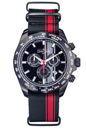 DAVOSA Herren Chronograph Quarz Uhr mit Leder Armband 16248855