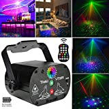 BoxTii Party Light Laser Lights Projector Music Activated Battery Powered Portable Strobe Light RGB LED Indoor DJ Disco Lights with Remote Stage Flash Laser Light for Party/Show/Disco