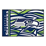 "19""X30"" NFL Seattle Seahawks Area Rug Football Themed Room Entry Mat Sports Patterned Rectangle Rug Bathroom Livingroom Office Carpet Team Logo Print Fan Gift Athletic Spirit Non-slip Backing, Nylon Includes: (1) Area Rug. Dimensions: 19 inches long ..."