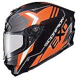 Scorpion R420 Helmet - Seismic (Large) (Orange)