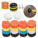 Aobetak Lot de 22 tampons de polissage en éponge pour carrosserie avec...