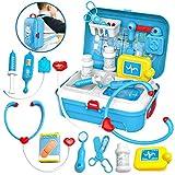 Pretender Maletín de Médico, Mochila Enfermera para Juego de Rol para Niños 3 Años, Azul