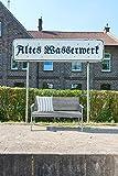 greemotion Holz Gartenbank Maui in Grau-2 Holzbank mit Rückenlehne-Garten Friesenbank wetterfest-Bank zum draußen Sitzen aus FSC Akazienholz, 11,5 x 6 x 1,4 cm - 5