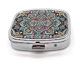 MovilCom® Pastillero diario de bolsillo organizador 2 compartimentos,...
