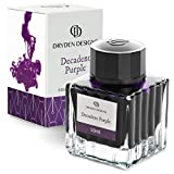 Dryden Fountain Pen Ink Bottle (50 ml) Luxury Edition, (Decadent Purple) Fountain Pen Bottled Ink. Compact Designed Bottle (Model: Smooth flow 50ml)