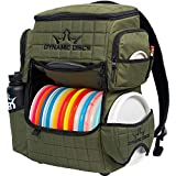 Dynamic Discs Ranger Disc Golf Backpack | Large Main Compartment That can Hold 18+ Discs | On-Deck Disc Golf Putter Pouch Capable of Holding Two Disc Golf Putters (Olive)