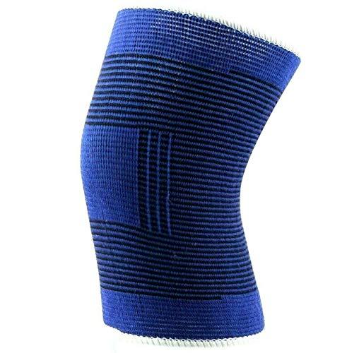2 x Fascia Sport da Protezione per Ginocchio Doppia Anallergica Elastica Ginocchiera