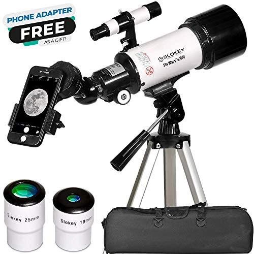 Telescopio Astronómico Portátil y Potente 16x-120x, Fácil de Montar y Usar, Ideal para Niños y Principiantes....