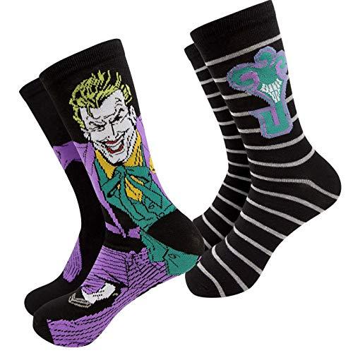 Joker Character and J Logo - Confezione da 2 paia di calzini da uomo