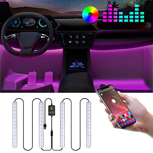Auto LED Innenbeleuchtung, RGB Ambientebeleuchtung Auto mit APP, Auto LED...