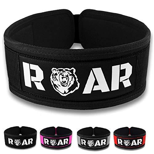 Roar® Cinturón Lumbar Gimnasio, Cinturon Gimnasio Hombre y Mujer,...