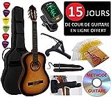 Pack Guitare Classique 4/4 (Adulte) 6 Accessoires Cour Vidéo et DVD...