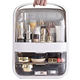 genral Organizador de Maquillaje portátil, Caja de Almacenamiento de cosméticos a Prueba de Agua con Tapa, Estuche de cosméticos a Prueba de Polvo con 2 cajones