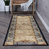 Tayse Seashore Nautical Beige 3x10 Runner Area Rug Cabin for Hallway, Walkway, Entryway, or Foyer - Lodge, Novelty
