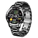Montre Connectée Homme Smartwatch Sport avce Étanche IP68/Sommeil/Podomètre/Contrôle de la Musique,6 Modes de Sport pour iOS/Android