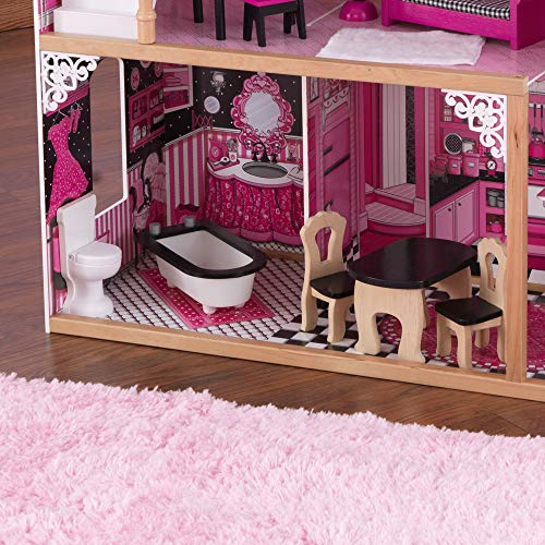 Image 8 - Kidkraft - 65093 - Maison de Poupées en Bois Amelia Incluant Accessoires et Mobilier, 3 Étages de Jeu pour Poupées 30 cm