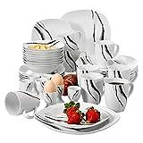 VEWEET Teresa 40pcs Service de Table Pocelaine 8pcs Assiettes...