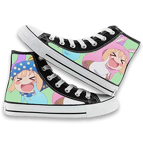 NIEWEI-YI Alpargatas Altas Himouto! Umaru-Chan Anime Zapatos De Lona Hombres Mujeres Zapatos Casuales Zapatos De Viaje Al Aire Libre,42 EU