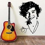 Tianpengyuanshuai One Direction Wall Art Mural Harry Estilo Vinilo Pegatina Chica Dormitorio música Papel Tapiz Mural Pared calcomanía 57x41cm
