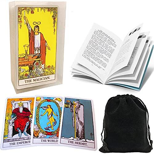 Tarot Cards Set Classic Rider Tarot Cards Deck with...