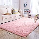 Super Soft Kids Room Baby Nursery Rug 4' x 6' Mordern Indoor Pink Fluffy Area Rugs for Bedroom Living Room Floor Carpets by VaryCarry