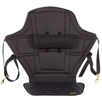 """Expedition Kayak Seat 20"""" High Back Support with Lumbar Roll and Nylon Gel seat Bottom for Kayaking Comfort"""