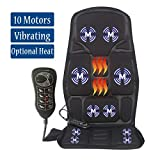 Sotion Vibrating Back Massager for Car Seat Massager, Chair Massager with Heat for Relieve Stress and Fatigue for Back, Shoulder and Thighs