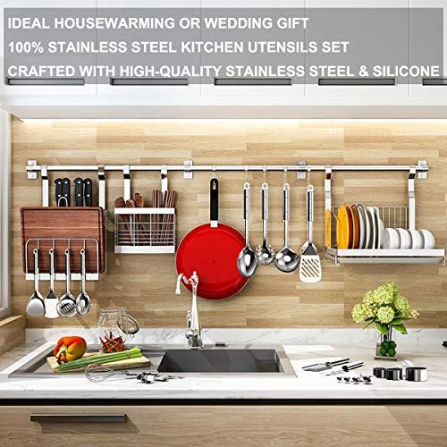 Product Image 7: Stainless Steel Kitchen Utensil Set- Fungun 28 Pcs Cooking Utensils - Nonstick Kitchen Utensils <a href=
