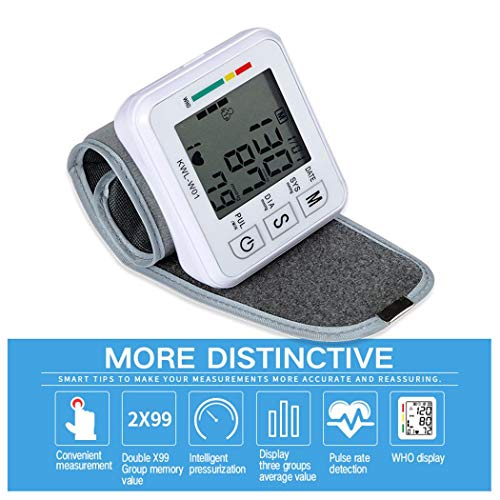 nurrat Automatic Smart Wrist Electronic Blood Pressure Monitor Blood Pressure Monitors