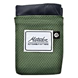 Matador Pocket Blanket 2.0 New Version, Picnic, Beach, Hiking, Camping. Water Resistant with Built-in Ground Stakes (Alpine Green)