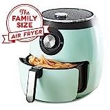 Dash DFAF455GBAQ01 Deluxe Electric Air Fryer + Oven Cooker with Temperature Control, Non Stick Fry Basket, Recipe Guide + Auto Shut Off Feature, 6 qt, Aqua