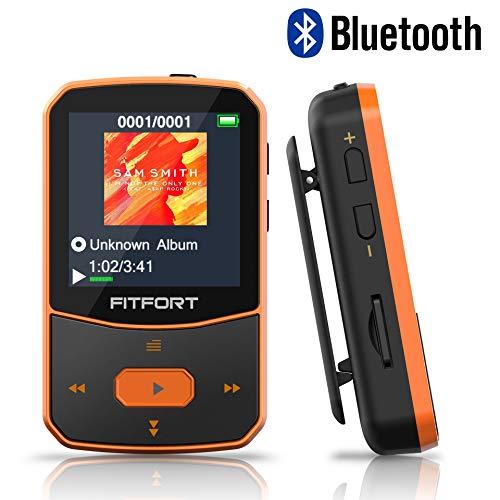 MP3 Player Bluetooth 4.1 Sport 8GB - Verlustfreier Sound FM Radio,Sprachaufzeichnung,E-Book und andere Funktionen,Unterstützt bis 128GB SD Karte (Kopfhörer,USB-Kabel im Lieferumfang Enthalten)