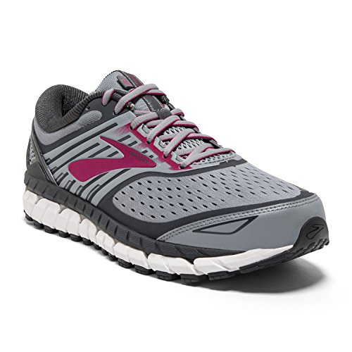 Brooks Women's Ariel '18 Running Shoes, Multicolour (Grey/Grey/Pink 091), 8 UK