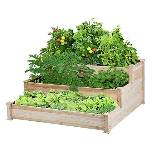 Yaheetech 3 Tier Raised Garden Bed Elevated Flower Box Wooden...