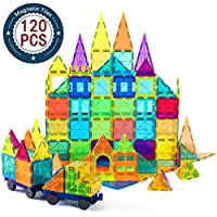 Building blocks developing kids creativity. Children can acquire strong sense of color, geometrical shapes including 3D forms numbers counts, magnetic polarities & architectural design at early age. Magnet building tiles are easy to construct and eas...